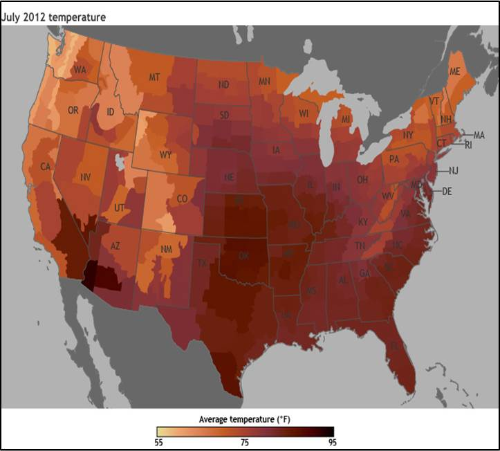 "By the end of this century, what have previously been once-in-20-year extreme heat days (1-day events) are projected to occur every two or three years over most of the nation., In other words, what now seems like an extremely hot day will become commonplace."" (National Climate Assessment, 2014"
